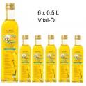 6 x  Vital-Öl - HUILE DE COLZA AU GOÛT DE BEURRE